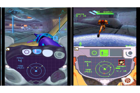 Metroid Prime Hunters Split Screen Local Multiplayer - YouTube