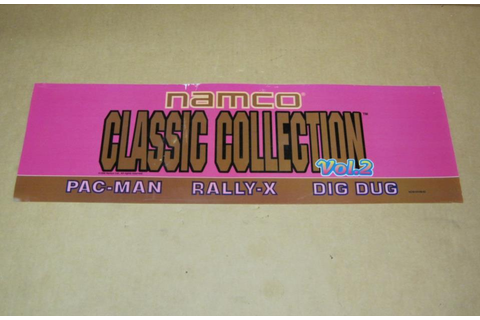 Namco Classic Collection Vol. 2 Arcade Game Marquee ...