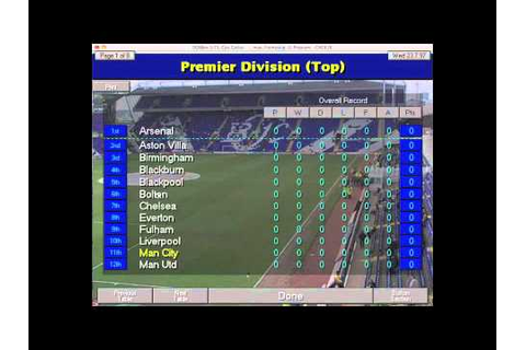 Championship Manager 97/98 (2010/2011 Season Data Update ...