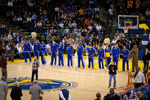 GOLDEN STATE WARRIORS Nba Basketball before the game ...