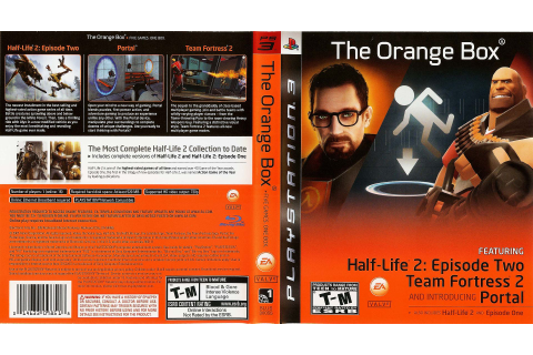 This game cover for the 'Orange Box' obviously is orange ...