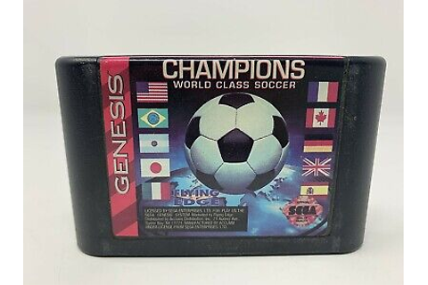 Champions World Class Soccer - SEGA GENESIS - Game Cart ...