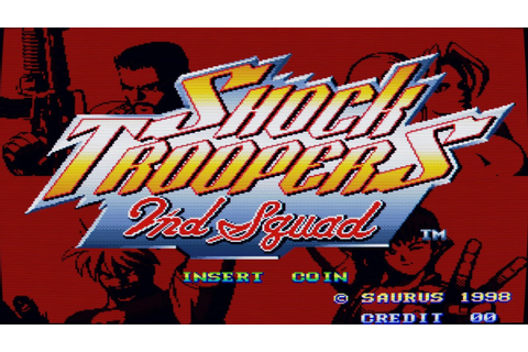 Shock Troopers - 2nd Squad (Arcade Game Intro) - YouTube