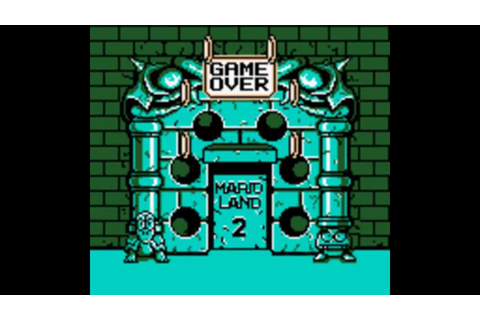 Super Mario Land 2: 6 Golden Coins Game Over - YouTube