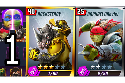 TMNT Legends (Rocksteady & Raphael The Movie) iOS Gameplay ...