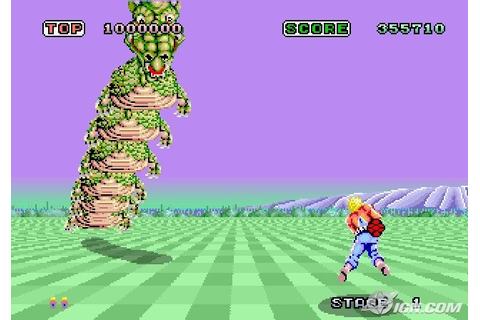Space Harrier Screenshots, Pictures, Wallpapers - Arcade - IGN