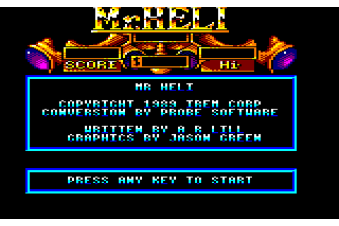 Mr. Heli (1989) by Probe Software Amstrad CPC game
