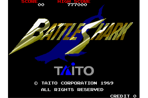 Battle Shark arcade video game by Taito Corp. (1989)