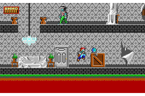 Dangerous Dave in the Haunted Mansion action for DOS (1991 ...