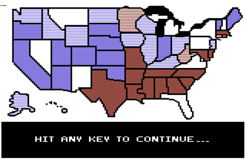 President Elect: 1988 Edition - Commodore 64 Game / C64 ...