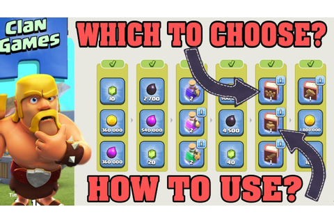 CLASH OF CLANS CLAN GAMES #2 ABOUT TO END. WHICH REWARDS ...
