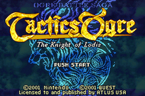 Play Tactics Ogre - The Knight of Lodis Nintendo Game Boy ...
