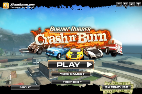 Burnin' Rubber Crash n' Burn - Funny Car Games