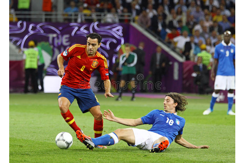 UEFA EURO 2012 Final Game Spain Vs Italy Editorial ...