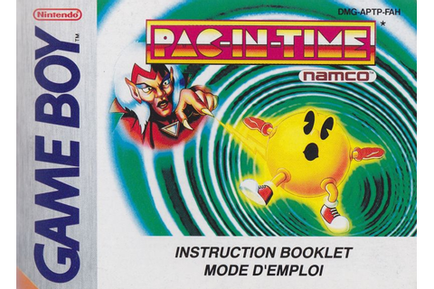 Pac-in-Time (1994) Game Boy box cover art - MobyGames
