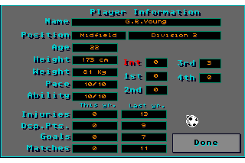 Player Manager (1990) by Anco Amiga game