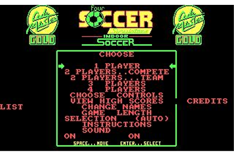 4 Soccer Simulators Download (1988 Sports Game)