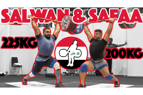 Salwan & Safaa Heavy Training (Salwan 225kg Clean and Jerk ...