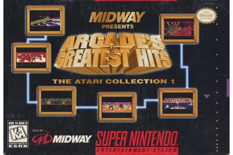 Arcade's Greatest Hits SNES Super Nintendo