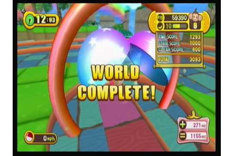 Super Monkey Ball Step & Roll - World 1 with BALANCE BOARD ...
