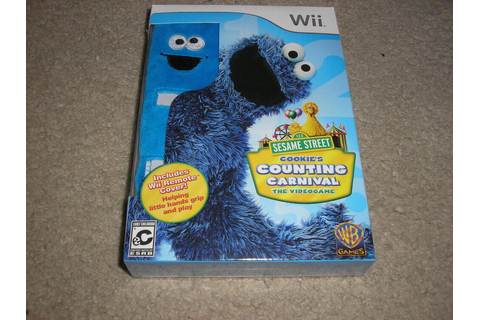 New Wii Sesame Street Cookie Monster Cookie's Counting ...
