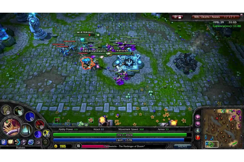 League of Legends - Gameplay Battle Video 1 - YouTube