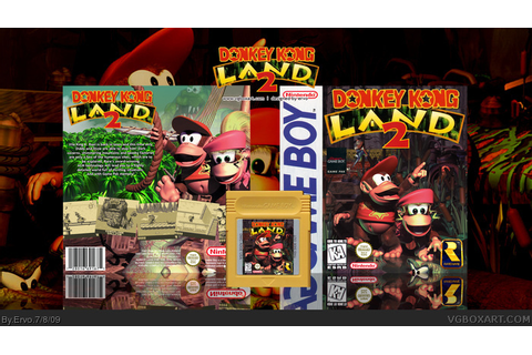 Donkey Kong Land 2 Game Boy Box Art Cover by Ervo