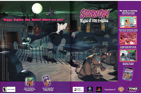 "Video Game Print Ads — ""Scooby-Doo! Night of 100 Frights ..."