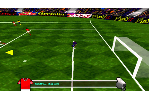 Actua Soccer (1995) Gameplay - PSX,PSONE,PlayStation 1 ...