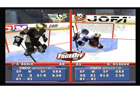 NHL Faceoff 2003 (PS2) Penguins vs Islanders - YouTube