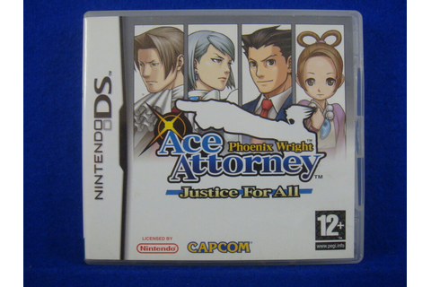 ds ACE ATTORNEY Phoenix Wright JUSTICE FOR ALL Game Lite ...