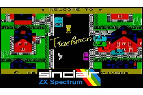 ZX Spectrum Games - Trashman - YouTube
