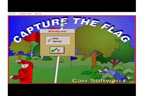 Capture the Flag - 1993 PC Game, gameplay - YouTube