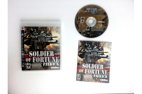 Soldier Of Fortune Payback game for Playstation 3 ...