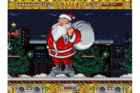 Boogie Wings Merry Christmas level - MAME arcade game ...
