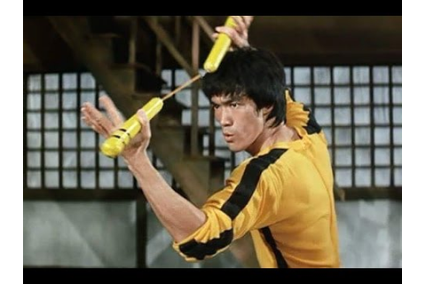 Bruce lee nunchucks styles from game of death - YouTube