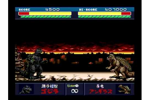 Godzilla: Battle Legends (Godzilla vs Anguirus battle 2 ...