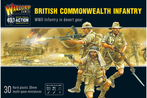 New: British Commonwealth Infantry - Warlord Games