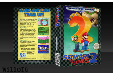 Somari the Plumber 2 SNES Box Art Cover by willo10