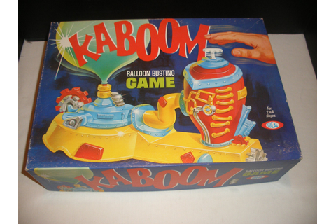 Vintage Game Kaboom A Balloon Popping Game by Ideal 1965