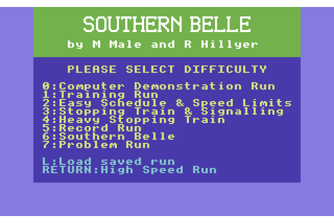 Southern Belle (1986) by Hewson C64 game