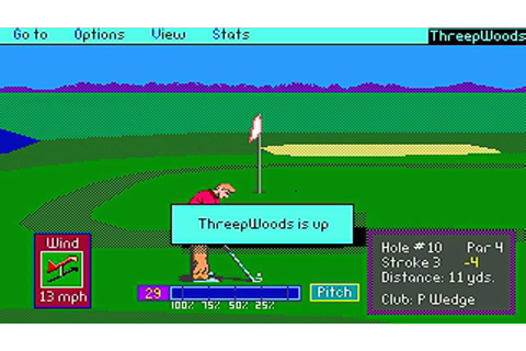 "PGA Tour Golf ""Round-1"" (PC/DOS) 1990, EA, Sterling Silver ..."