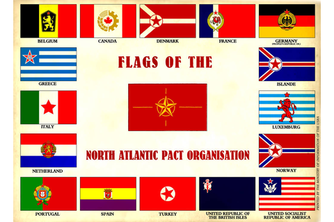 Flags of the North Atlantic Pact Organisation by ...