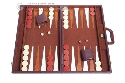 "21"" Tournament Backgammon Set - Classic Board Game - Brown ..."