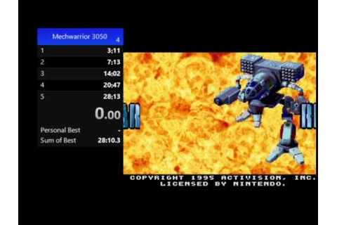 Mechwarrior 3050 (SNES) - YouTube