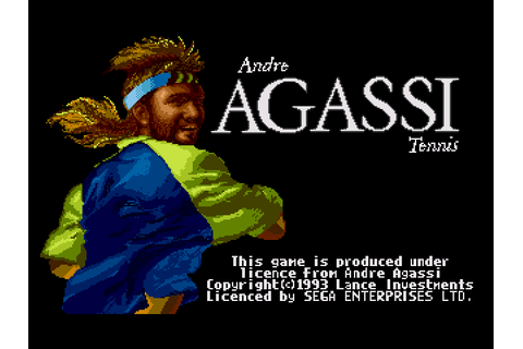 Andre Agassi Tennis (1992) by Lance Investiments Mega ...