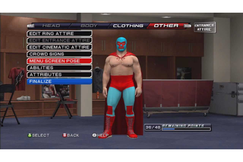 How to make Nacho Libre ( Jack Black ) On WWE Smackdown VS ...