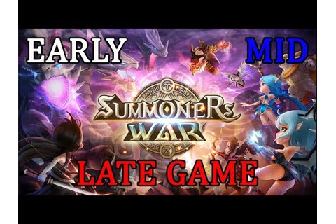 Early, Mid e Late Game do Summoners War(minha opinião ...