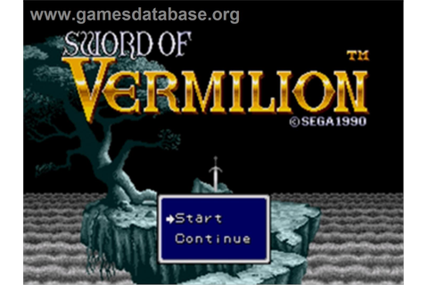 Sword of Vermilion - Sega Genesis - Games Database