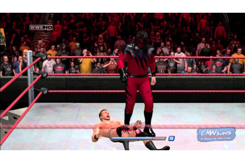 WWE Smackdown vs RAW 2011 Masked Kane Gameplay - YouTube